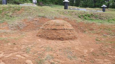 경기 이천 묘지 사초공사