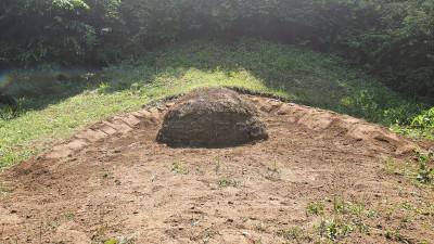 충북 보은군 묘지 사초